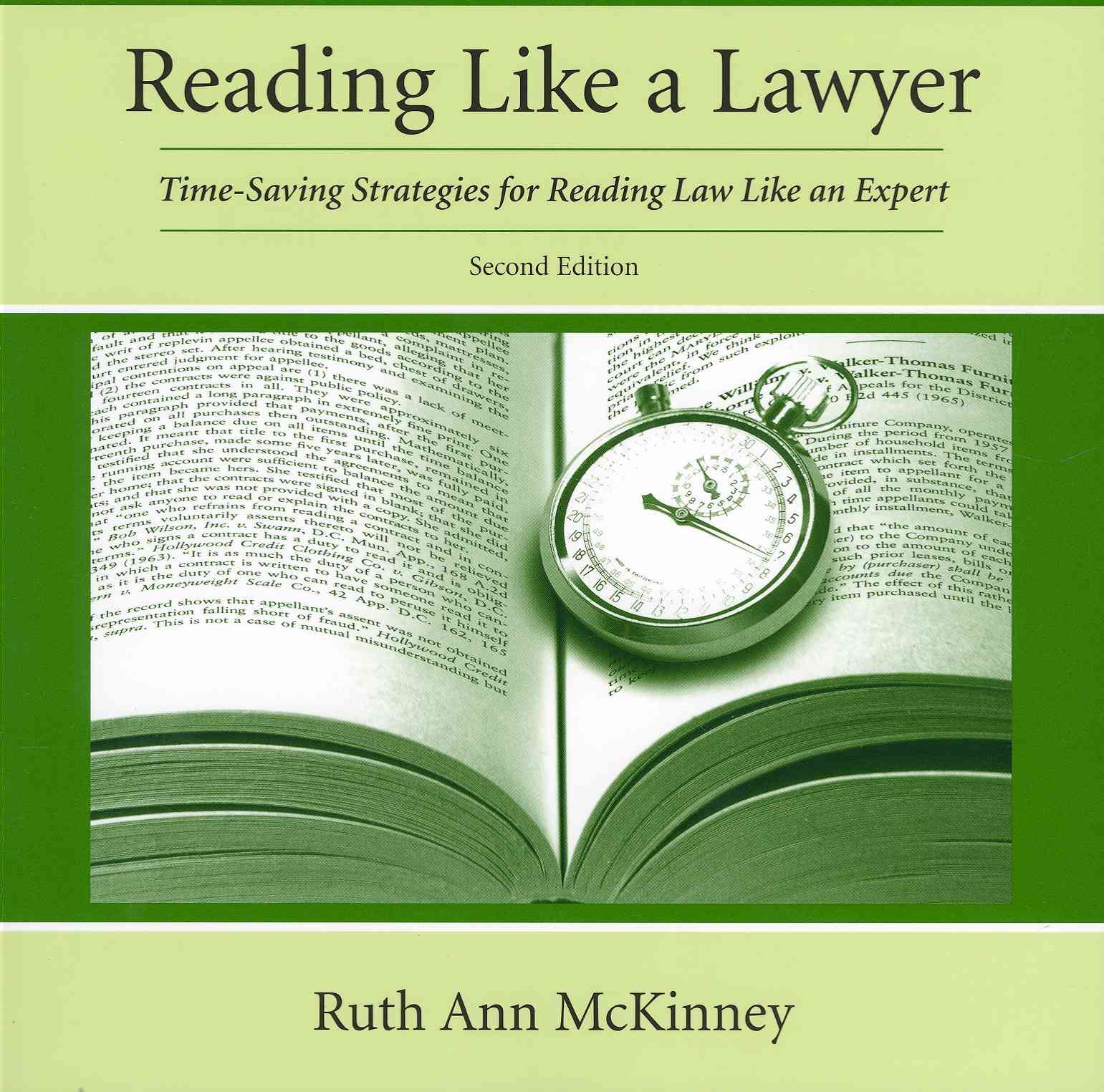 Reading Like a Lawyer By McKinney, Ruth Ann